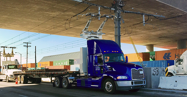 Mack Catenary Truck