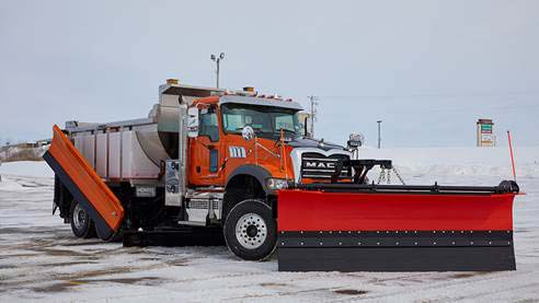 Mack Truck with Snow Plow