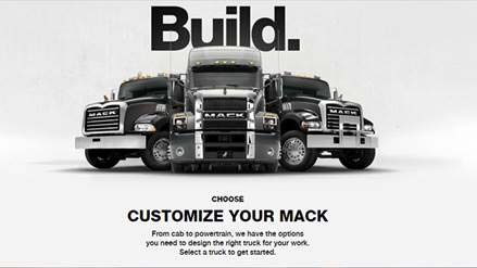 Mack Trucks Online Configurator Lets Customers Design Their