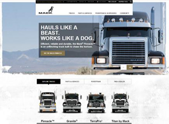 Macktrucks.com homepage