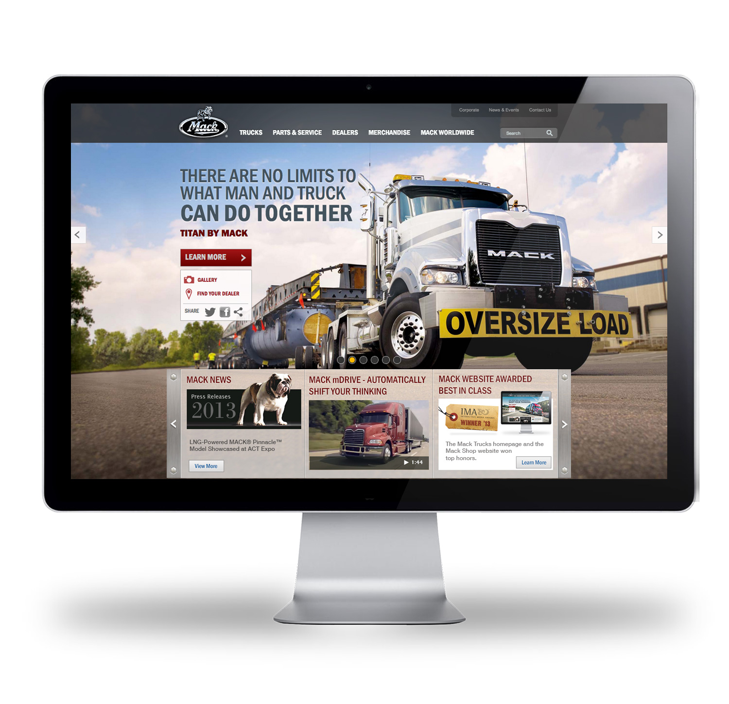 New MackTrucks.com Design