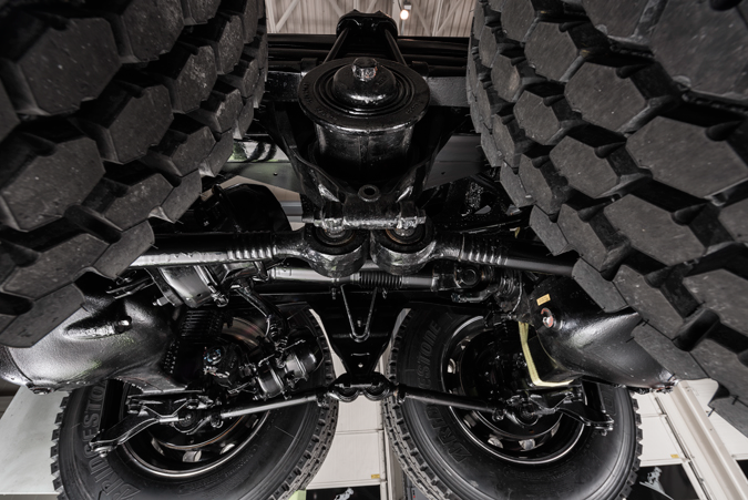 mRIDE spring suspension, paired with the MACK® C150/151 axle carriers