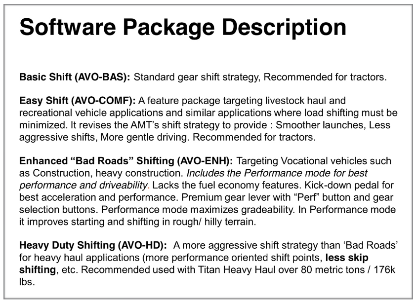 Mack mDRIVE and mDRIVE HD Features