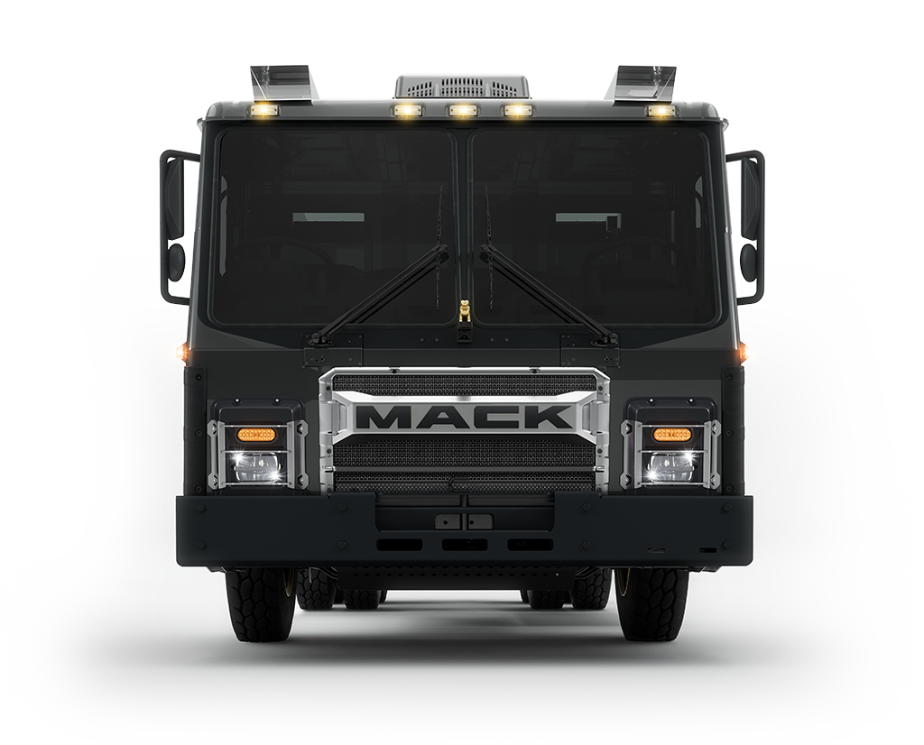 Mack LR Electric Trucks front view