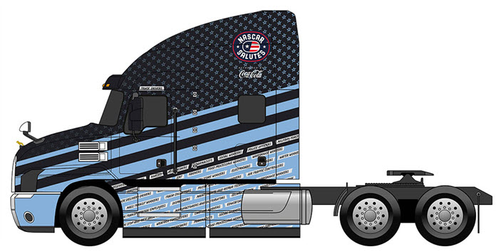 Military Front-Line Heroes Honored with Custom Truck Wraps for NASCAR Salutes