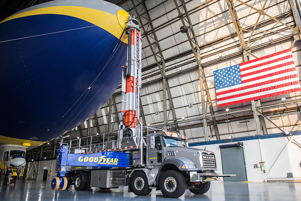 Mack Trucks and Goodyear Partner on Contest to Name the Mack® Granite® Hauling the Goodyear Blimp