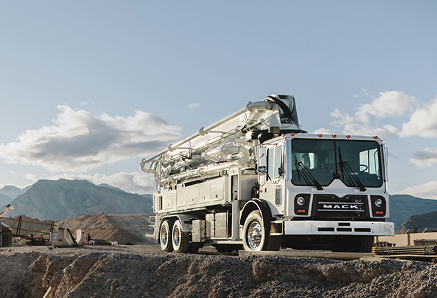 Mack mDRIVE HD Now Available in Mack TerraPro Concrete Pumpers Powered by MP8 Engine
