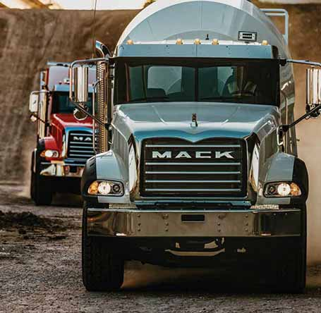 Mack Trucks Granite front view