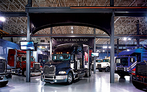 Employment Trucks in Showroom