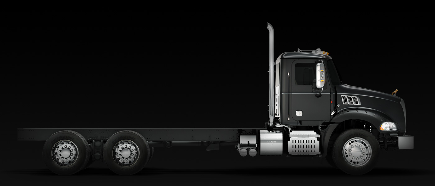 granite series semi truck models mack trucks granite truck side view 2