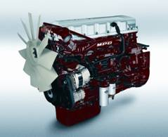 The 13-liter MACK® MP8 engine
