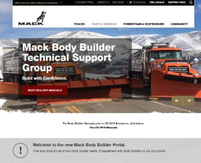 mack trucks emedia center please note body builder material is located on our public mack trucks web site here