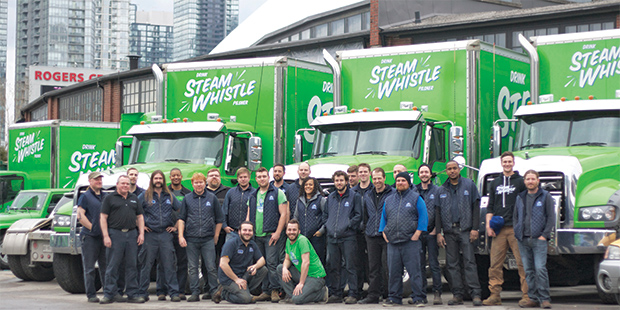 Mack Granite Community Steam Whistle Brewing Crew