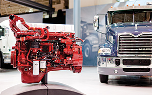 Mack Product Showroom Engine and Truck