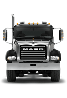 Front of Mack Granite Truck