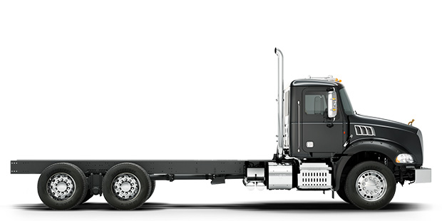 Side view of black Granite truck